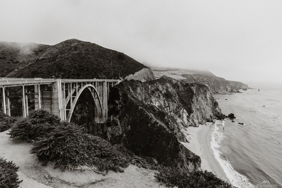 Bixby Bridge B&W  Imprimer