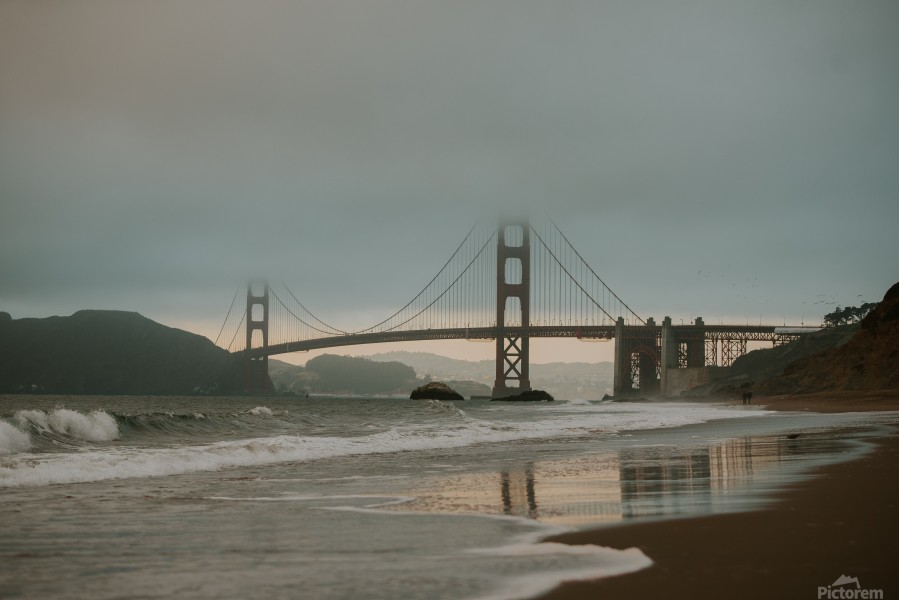 Golden Gate in the smog  Imprimer
