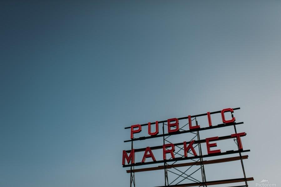 Seattle Public Market Sign  Imprimer