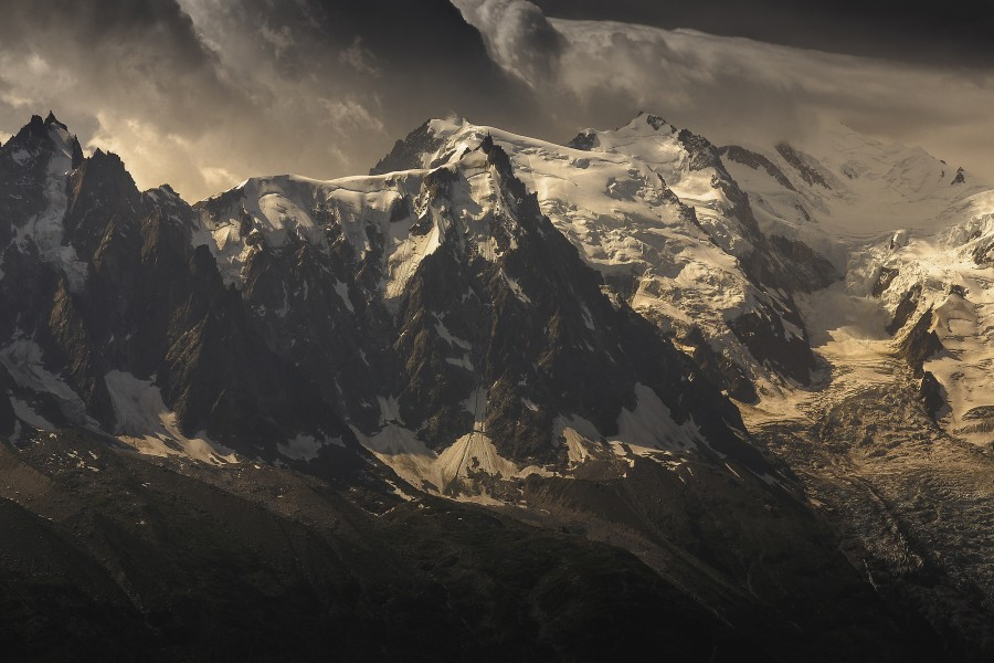 Aiguille du Midi and Mont Blanc, French Alps  Print