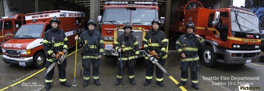 Seattle Fire Department Ladder 10 - Steve - Canvas Artwork