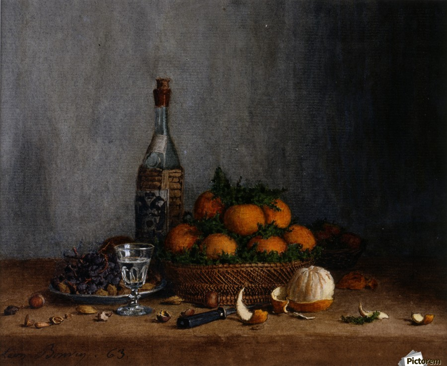 Still Life with Basket of Oranges  Imprimer