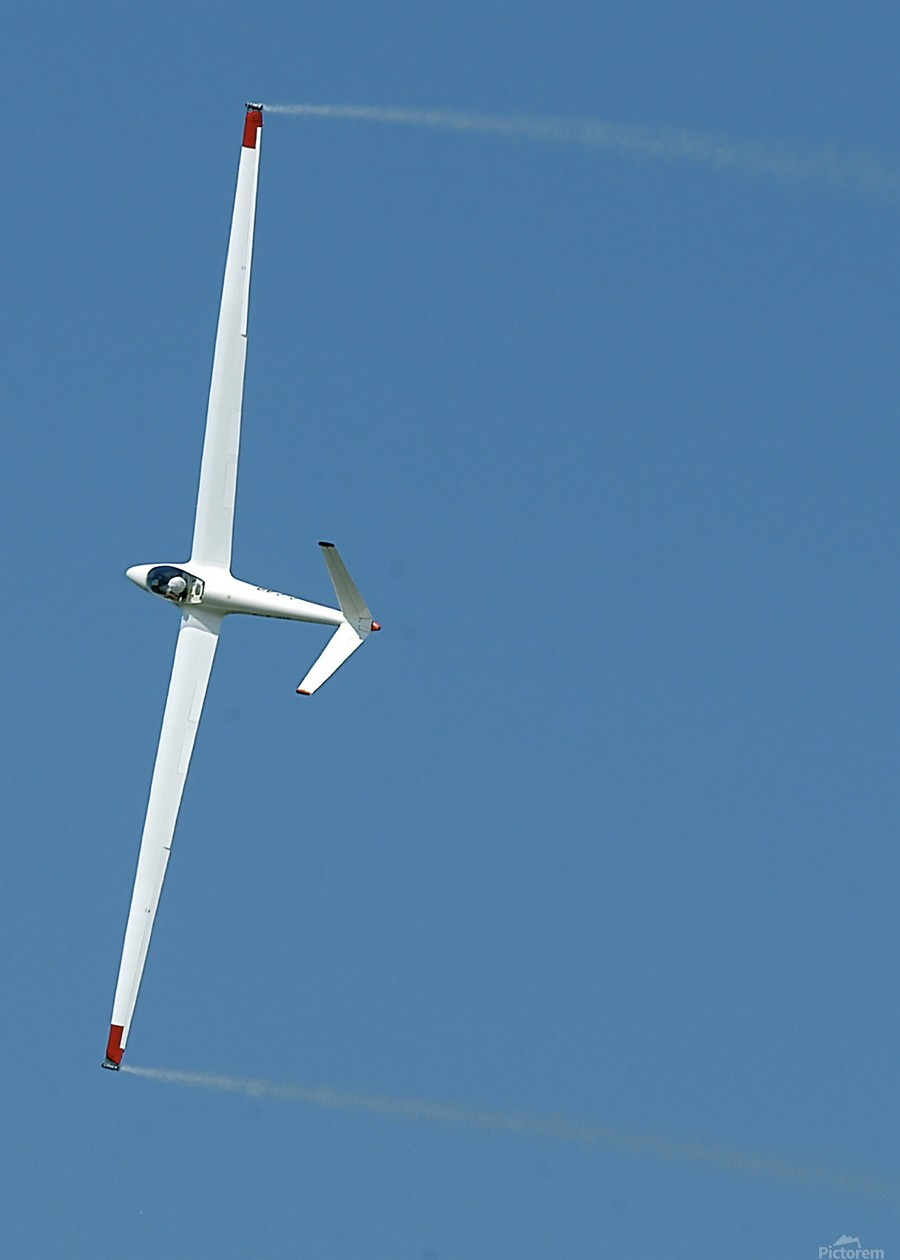 A sailplane glider during the 2007 Naval Air Station Oceana Air Show.  Print