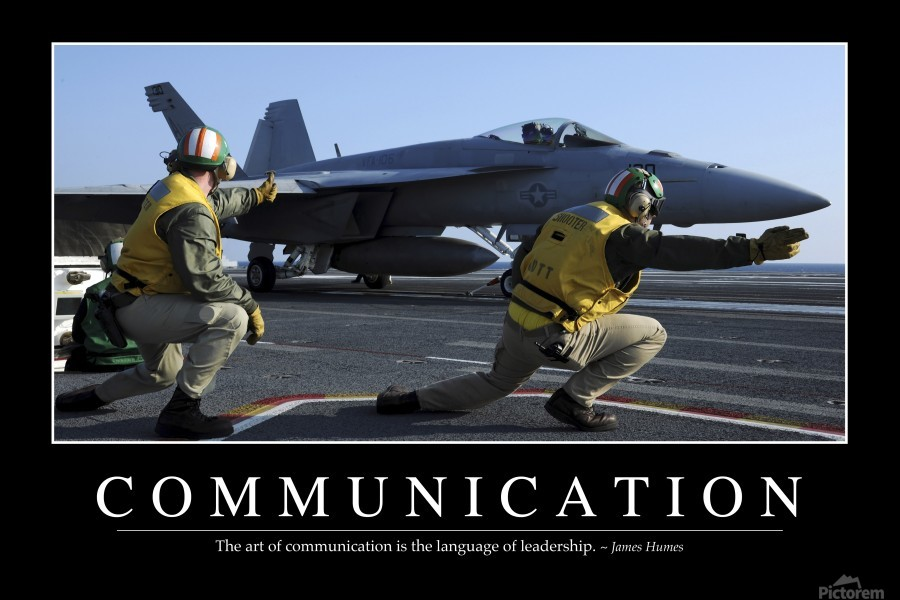 Communication: Inspirational Quote and Motivational Poster  Print