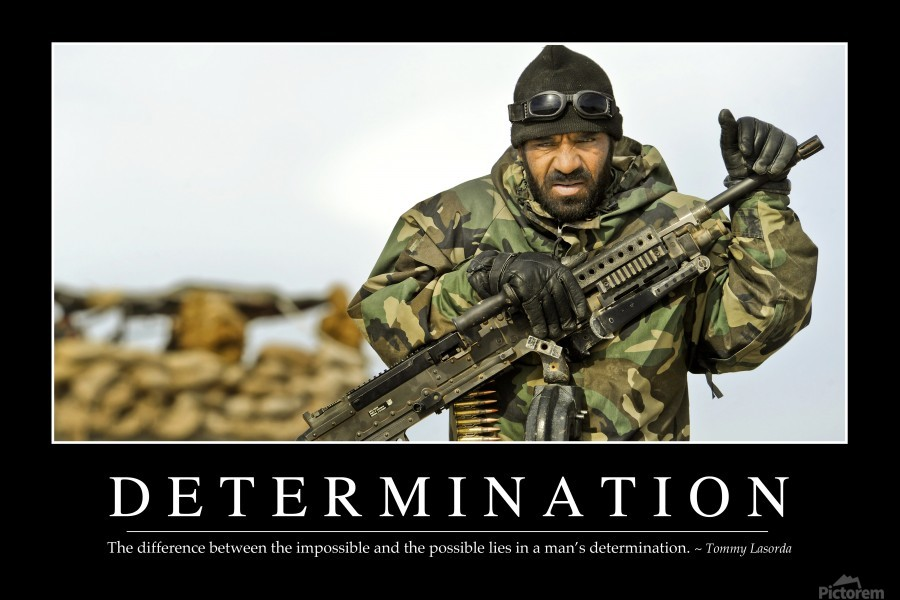 Determination: Inspirational Quote and Motivational Poster -  StocktrekImages - Canvas Artwork