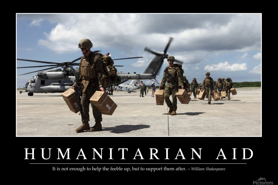 Humanitarian Aid: Inspirational Quote and Motivational Poster  Print