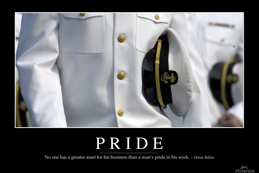 Pride: Inspirational Quote and Motivational Poster  Print