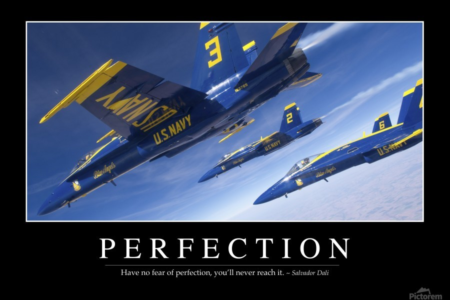 Perfection: Inspirational Quote and Motivational Poster  Print