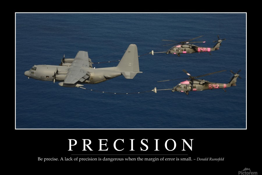 Precision: Inspirational Quote and Motivational Poster  Print