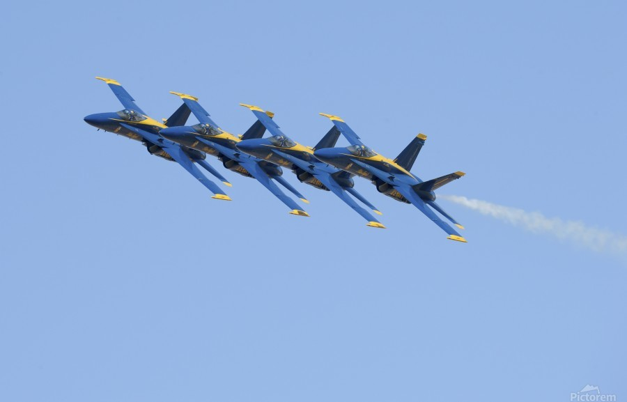 U.S. Navy flight demonstration squadron the Blue Angels.  Print