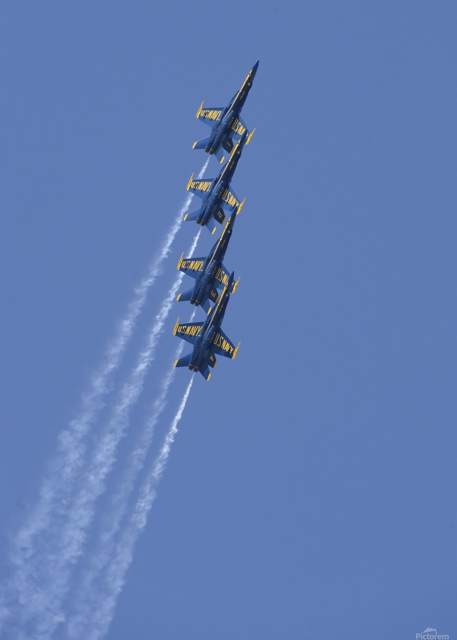 U.S. Navy flight demonstration squadron the Blue Angels.  Print