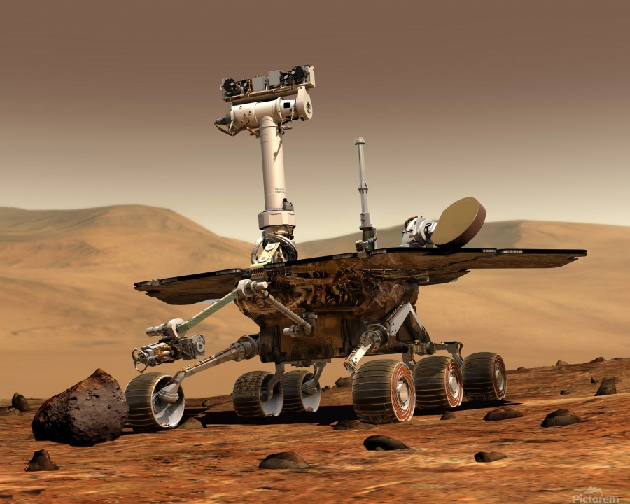Artists Rendition of Mars Rover.  Print