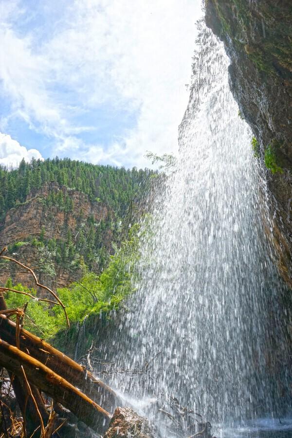 Inside the Waterfall  Print