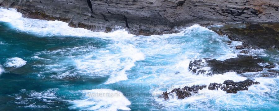 Swirling Blue Seas  Print