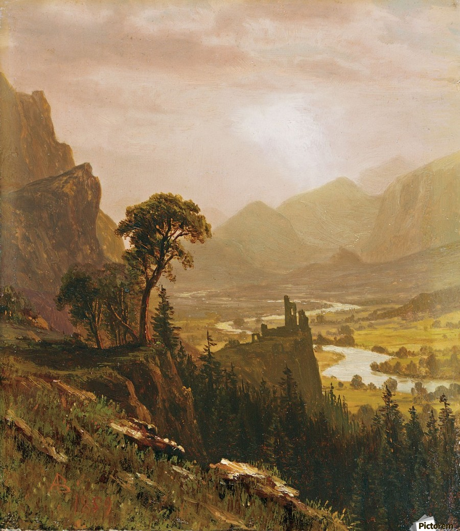 Sunset in the Mountains, 1859  Print