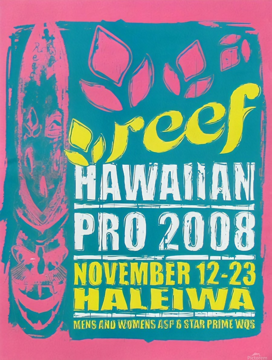 2008 REEF HAWAIIAN PRO Surf Competition Poster  Print