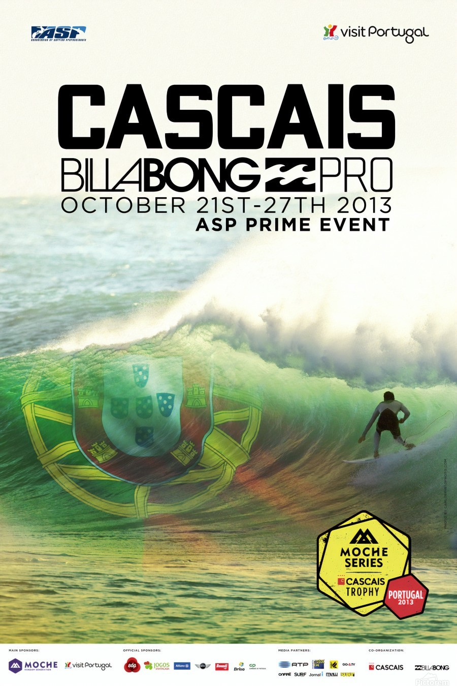 2013 CASCAIS BILLABONG PRO Surfing Competition Print  Print