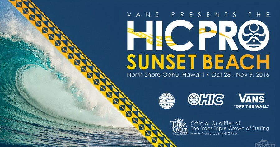 2016 VANS HIC PRO SUNSET BEACH Competition Print  Print