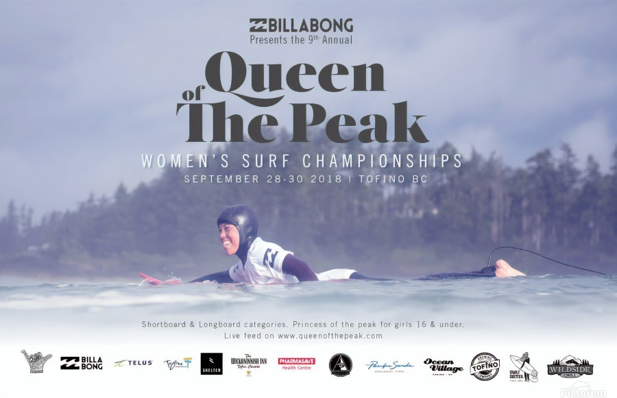 2018 BILLABONG QUEEN OF THE PEAK Surf Contest Competition Print - Surf  Posters - Canvas Artwork