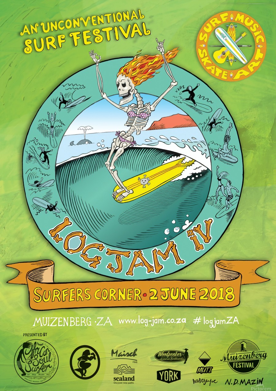 2018 LOG JAM IV Surf Print  Print