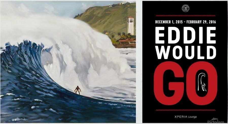 2015 QUIKSILVER - EDDIE AIKAU Big Wave Invitational Surfing Competition Print  Print