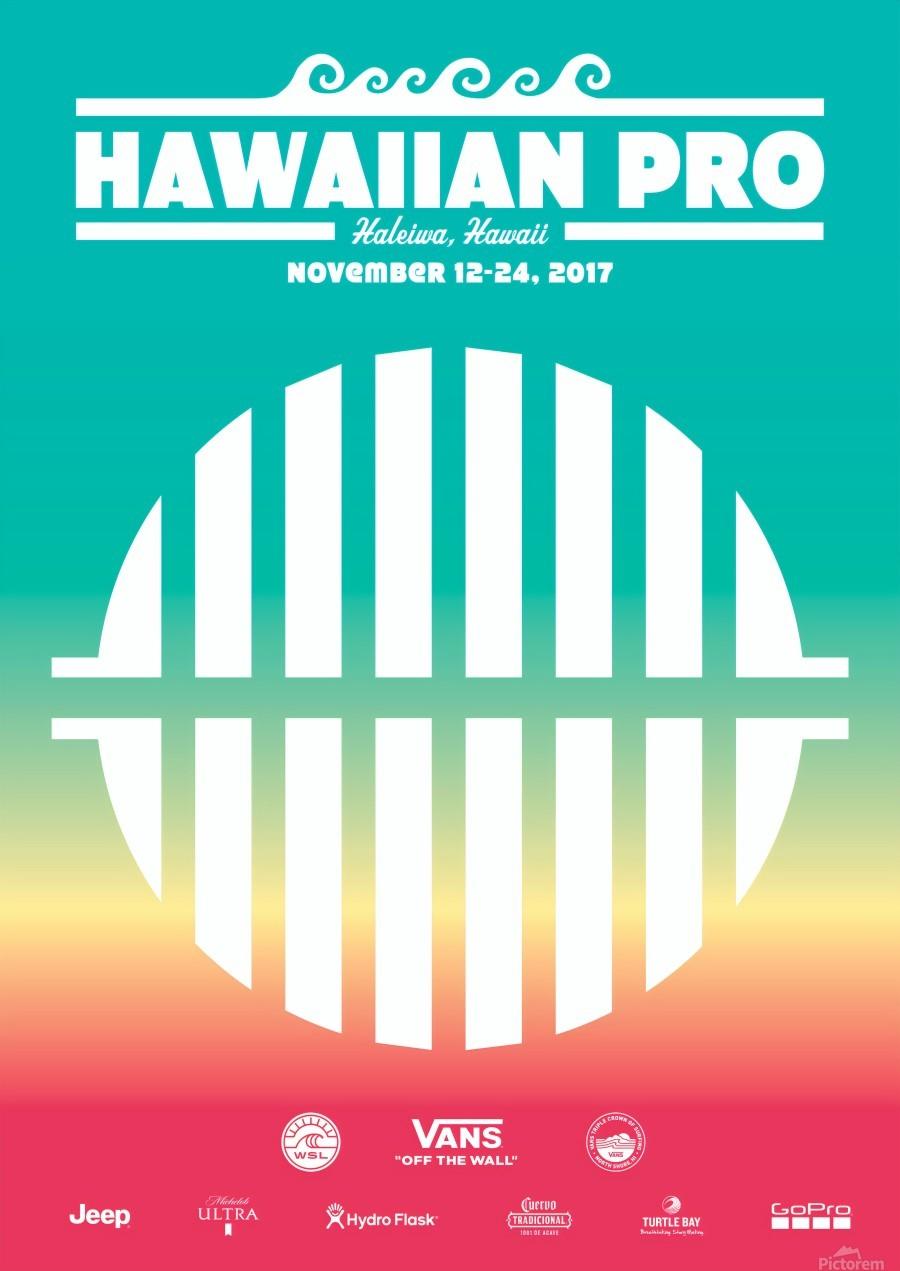 2017 HAWAIIAN PRO Surf Competition Print  Print