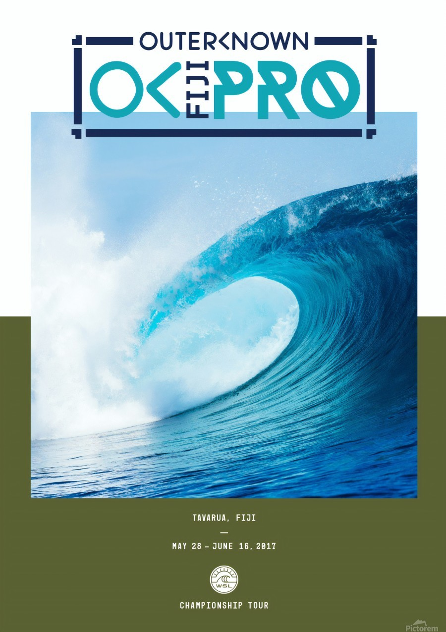 2017 OUTERKNOWN FIJI PRO Surf Competition Print  Print