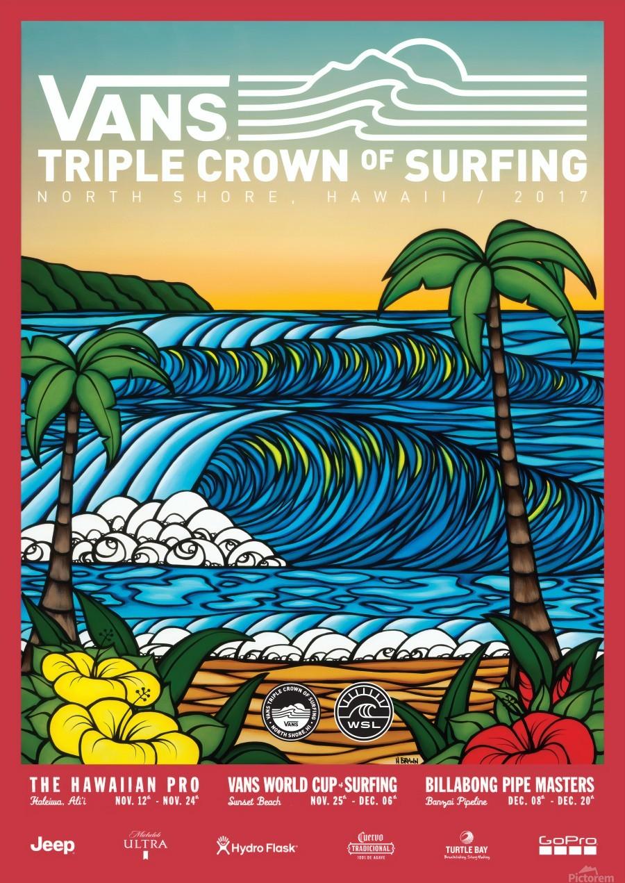 2017 VANS TRIPLE CROWN OF SURFING Competition Print  Print