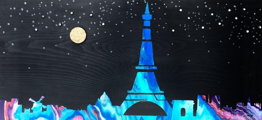 I love Paris on Wood 2  Print
