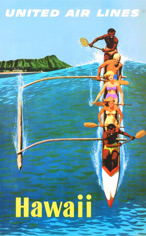 HAWAII TRAVEL POSTER  Print