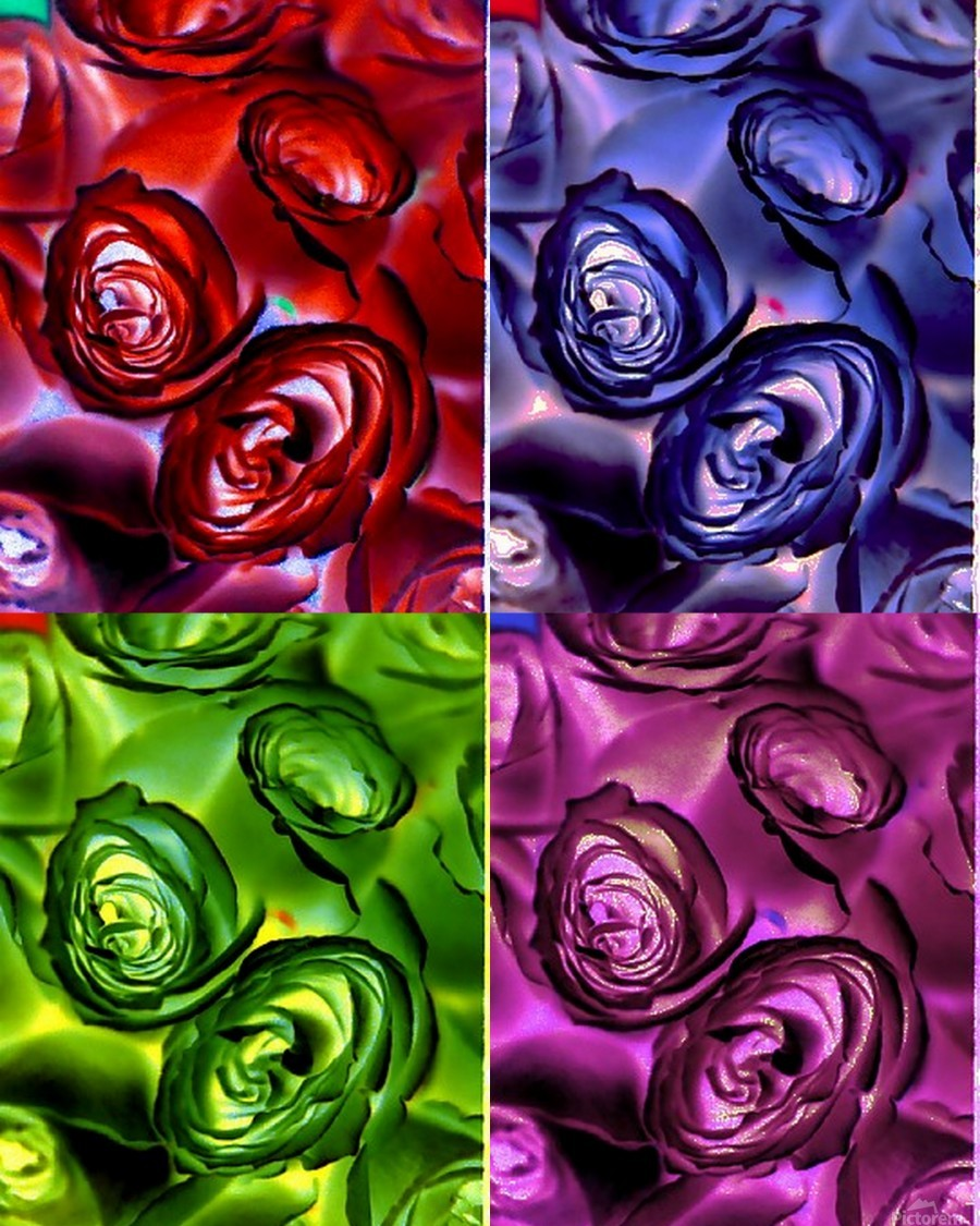 PSYCHEDELIC ROSES   Print