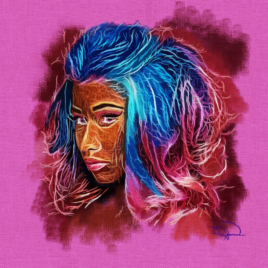 Nicki Minaj Abstracto  Print
