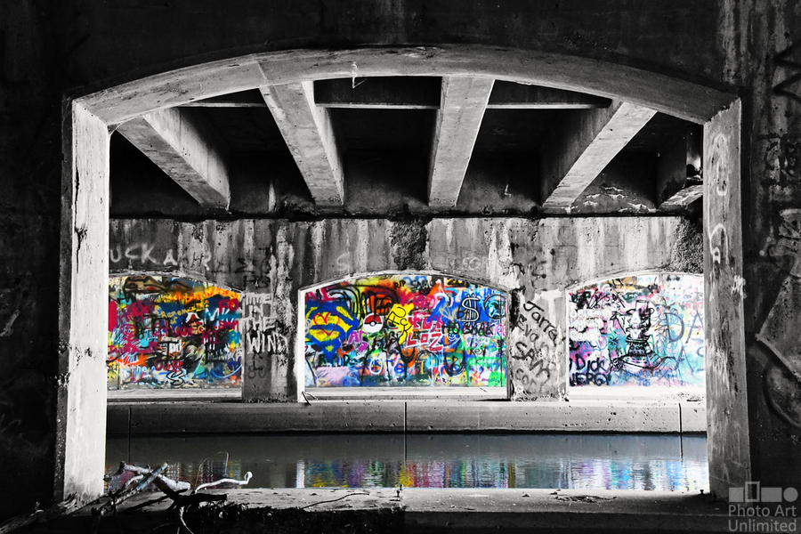 Graffiti Bridge  Print