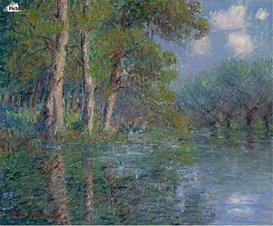 The Bend of the Eure  Print