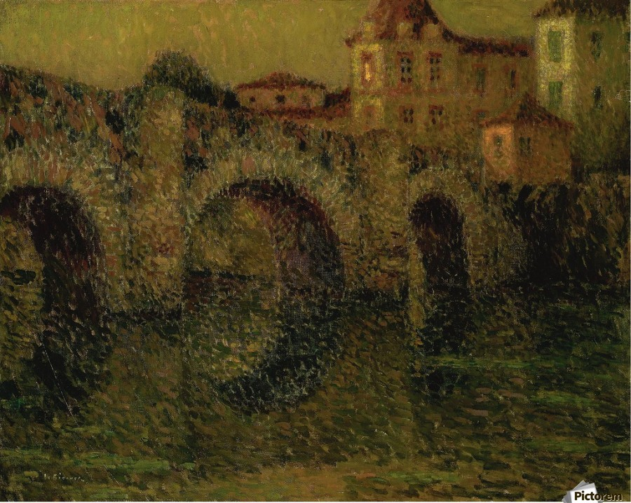 The Bridge at Twilight, Dinan  Print