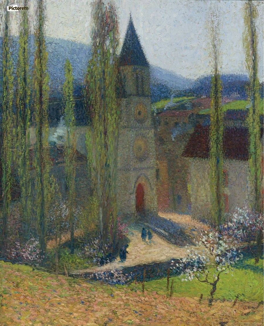 The Church of Labastide-du-Vert, Late Afternoon  Print