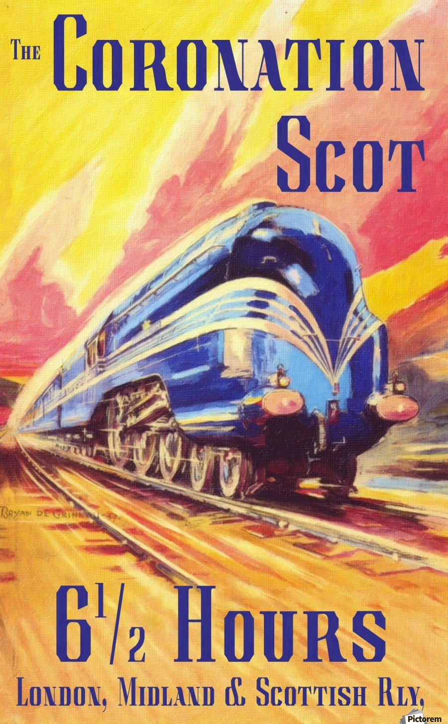 The Coronation Scot travel poster  Print