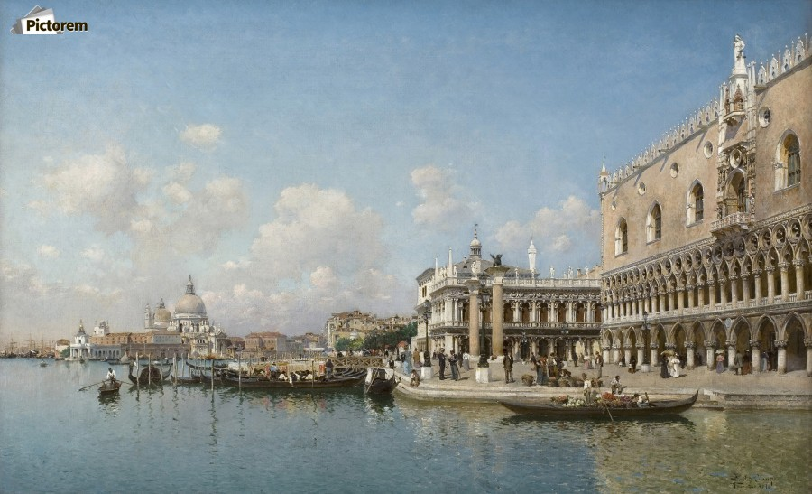 The Doge Palace and Santa Maria Della Salute  Print