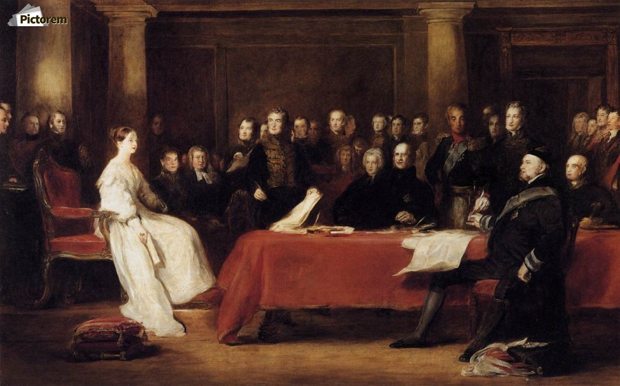 The First Council of Queen Victoria  Print