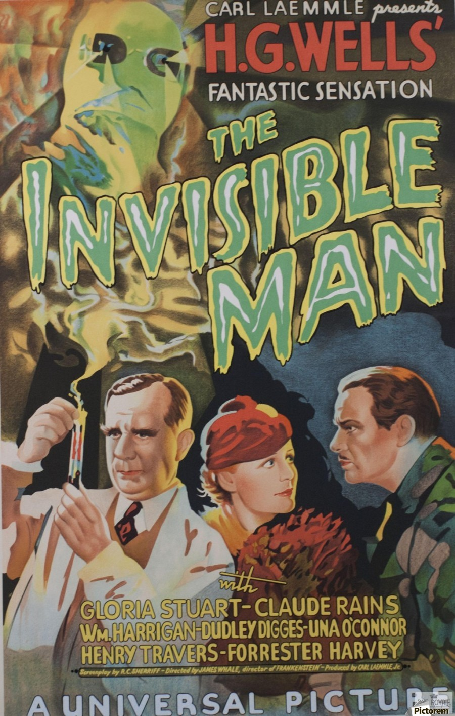 the invisible man universal picture carl laemmle vintage movie