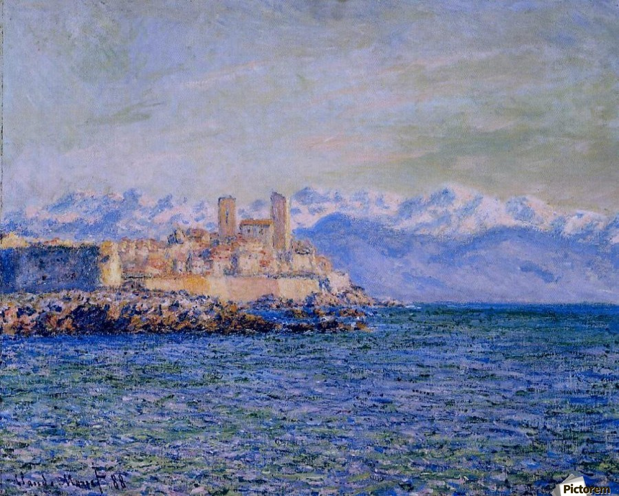 The Old Fort at Antibes  Print