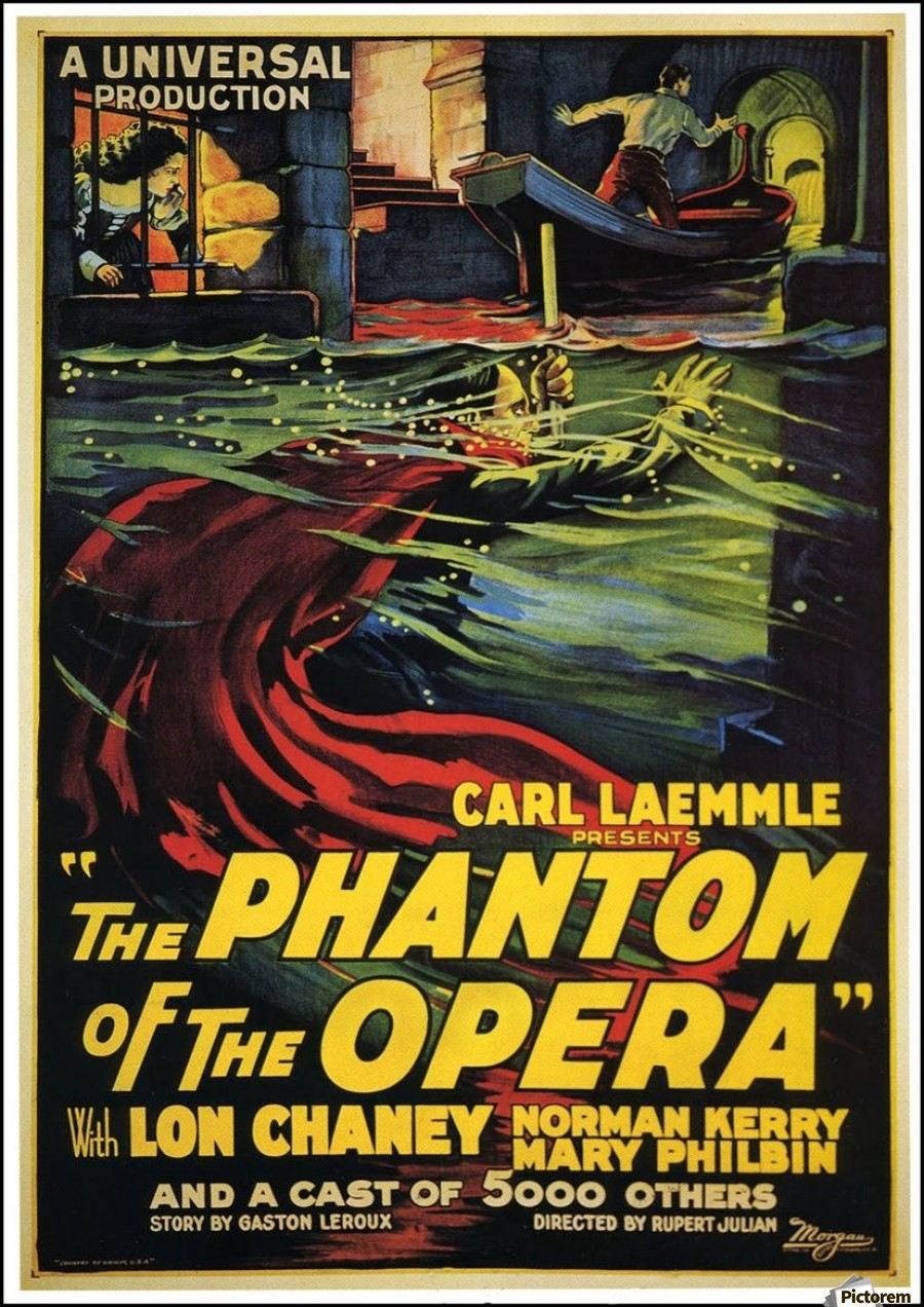 The Phantom Of Opera Vintage Film Poster