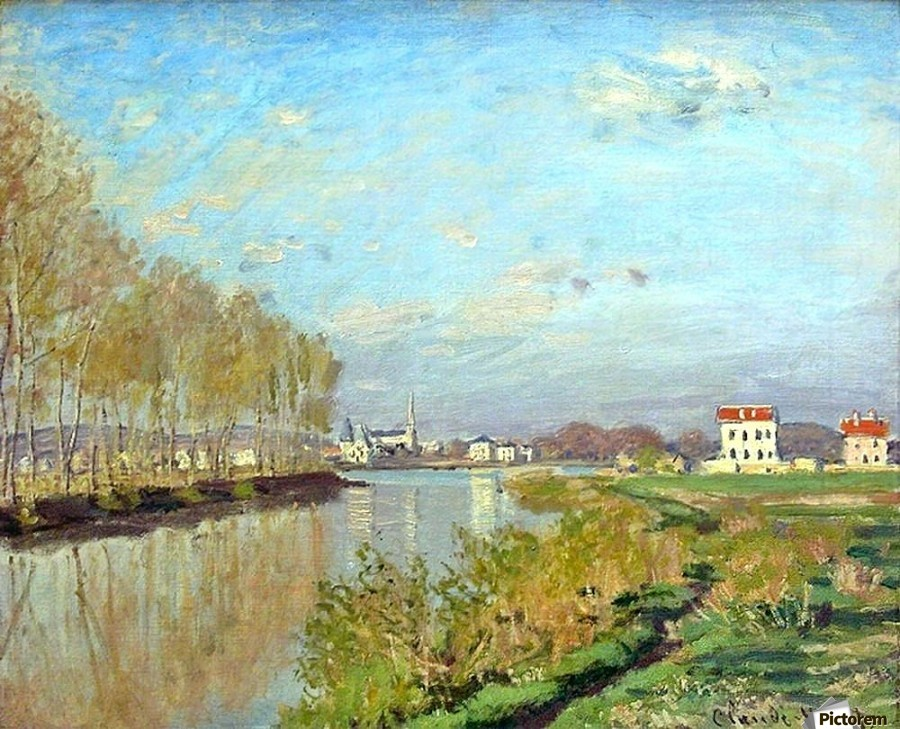 the seine at argenteuil alfred sisley canvas. Black Bedroom Furniture Sets. Home Design Ideas