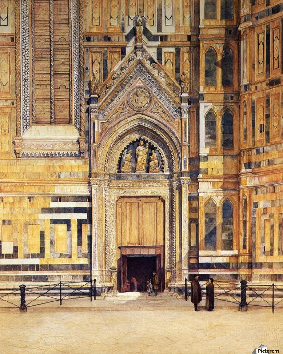 The South Door of the Duomo 1881  Print