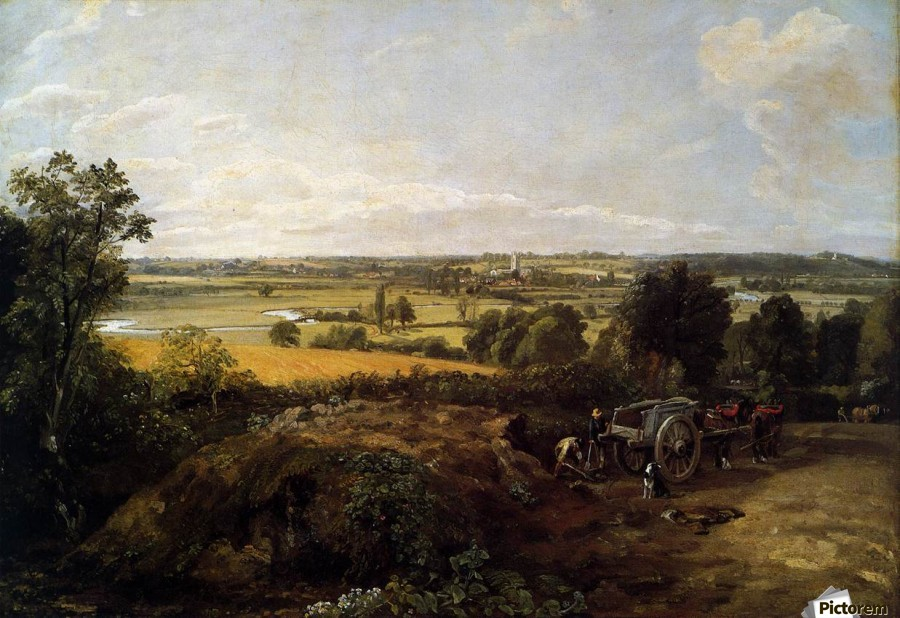 The Stour-Valley with the Church of Dedham  Print