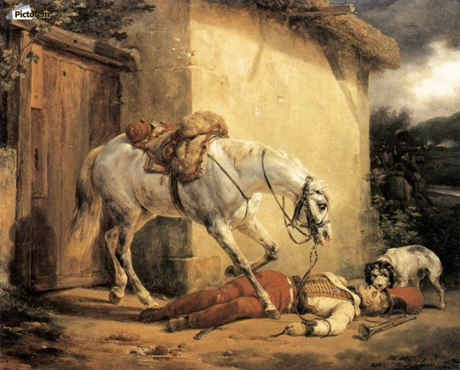 The Wounded Trumpeter 1819  Print