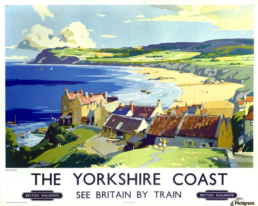 British Railway Travel Advert Old Vintage Retro Poster 2 The Yorkshire Coast