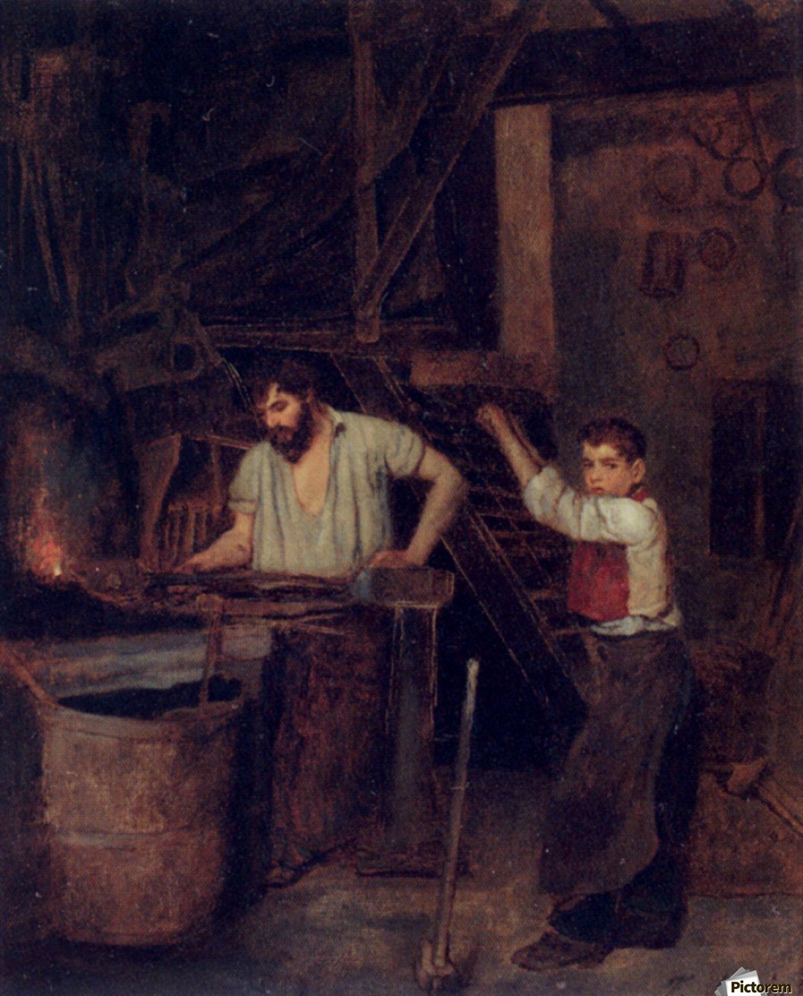 The blacksmiths  Print