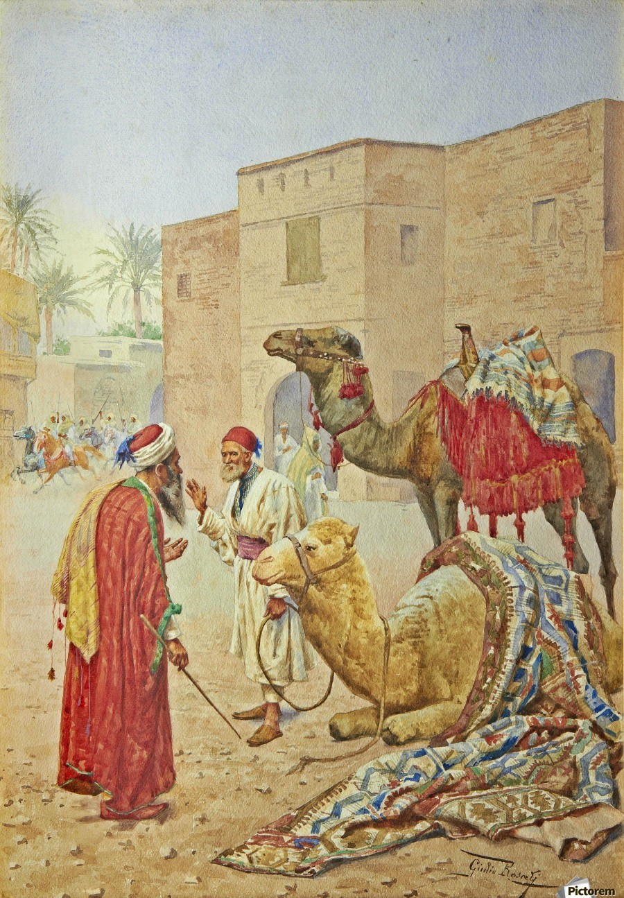 The camel seller  Print