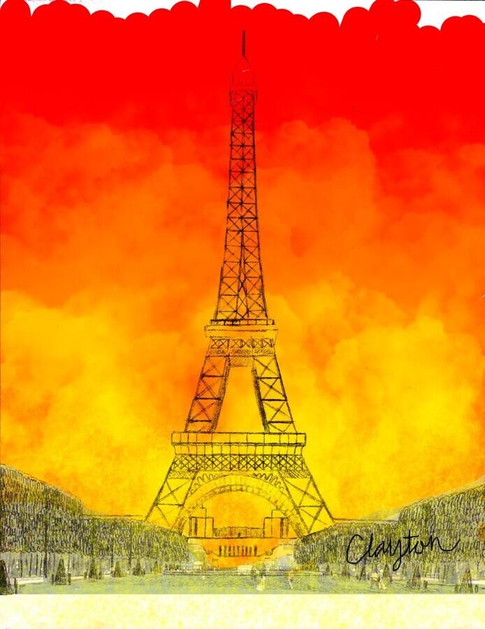 Eiffel Tower. Clayton T  Print